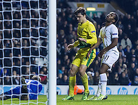 12.12.2013 London, England. Tottenham Hotspur forward Shaquile Coulthirst (41) rues a missed chance during the Europa League game between Tottenham Hotspur and Anzhi Makhachkala from White Hart Lane.