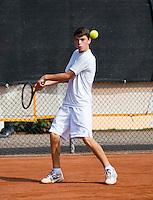 August 6, 2014, Netherlands, Rotterdam, TV Victoria, Tennis, National Junior Championships, NJK,  Jesse den Hartog (NED)<br /> Photo: Tennisimages/Henk Koster