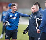 Fraser Aird tells Ally McCoist he is the pig in the middle