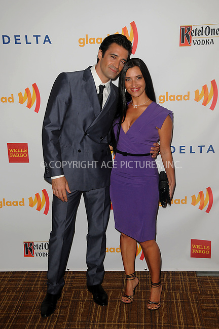 WWW.ACEPIXS.COM . . . . .  ....April 21 2012, LA....Actor Gilles Marini and Carole Marini arriving at the 23rd Annual GLAAD Media Awards at the Westin Bonaventure Hotel on April 21, 2012 in Los Angeles, California....Please byline: PETER WEST - ACE PICTURES.... *** ***..Ace Pictures, Inc:  ..Philip Vaughan (212) 243-8787 or (646) 769 0430..e-mail: info@acepixs.com..web: http://www.acepixs.com