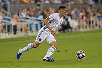 SAN JOSÉ CA - JULY 27: Cristian Espinoza #10 during a Major League Soccer (MLS) match between the San Jose Earthquakes and the Colorado Rapids on July 27, 2019 at Avaya Stadium in San José, California.