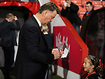 Manchester United Manager Louis van Gaal signs autographs for some young fans<br /> - Barclays Premier League - Bournemouth vs Manchester United - Vitality Stadium - Bournemouth - England - 12th December 2015 - Pic Robin Parker/Sportimage