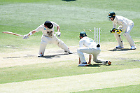 29th December 2019; Melbourne Cricket Ground, Melbourne, Victoria, Australia; International Test Cricket, Australia versus New Zealand, Test 2, Day 4; Tim Paine of Australia stumps Henry Nicholls of New Zealand for 33 runs - Editorial Use