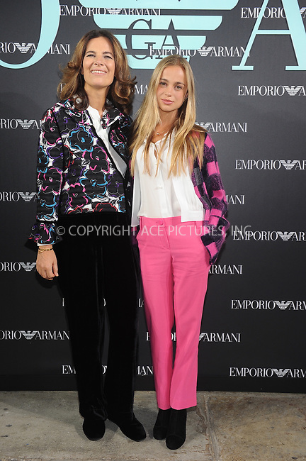 www.acepixs.com<br /> <br /> September 17 2017, London<br /> <br /> Roberta Armani (L) and Amelia Windsor at the Emporio Armani Show on September 17, 2017 in London, England<br /> <br /> By Line: Famous/ACE Pictures<br /> <br /> <br /> ACE Pictures Inc<br /> Tel: 6467670430<br /> Email: info@acepixs.com<br /> www.acepixs.com