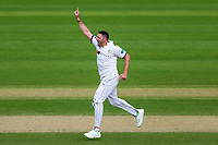 Picture by Alex Whitehead/SWpix.com - 22/04/2018 - Cricket - Specsavers County Championship Div One - Yorkshire v Nottinghamshire, Day 3 - Emerald Headingley Stadium, Leeds, England - Yorkshire's Tim Bresnan celebrates the wicket of Notts' Chris Nash.