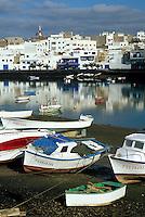 Spanien, Kanarische Inseln, Lanzarote, Lagune Charco de San Gines in Arrecife
