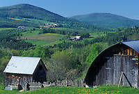 spring, Barnet, VT, Vermont, Farm and scenic countryside in Barnet in the spring.