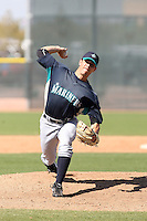 John Housey, Seattle Mariners minor league spring training..Photo by:  Bill Mitchell/Four Seam Images.