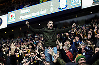 Preston North End fans celebrate after their side equalised to make it 1-1<br /> <br /> Photographer Alex Dodd/CameraSport<br /> <br /> The EFL Sky Bet Championship - Blackburn Rovers v Preston North End - Saturday 11th January 2020 - Ewood Park - Blackburn<br /> <br /> World Copyright © 2020 CameraSport. All rights reserved. 43 Linden Ave. Countesthorpe. Leicester. England. LE8 5PG - Tel: +44 (0) 116 277 4147 - admin@camerasport.com - www.camerasport.com