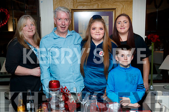 Sinead Lynch, Tralee, who celebrated her 21st birthday with her family at the Brogue Inn, Tralee, on Saturday night last, l-r: Sally Lynch, Billy Lynch, Sinead Lynch, Ryan Lynch Clifford and Megan Lynch.