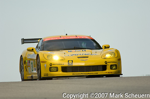 11 August 2007: The Corvette Racing C6.R driven by Johnny O'Connell (USA) and Jan Magnussen (DNK) at the Generac 500 at Road America, Elkhart Lake, WI