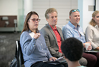 Career Services presents Industry Insights: NASA JPL Alumni Panel with Oxy alumni currently working at JPL, Tuesday, Sept. 25, 2018 in the Hameetman Career Center.<br /> (Photo by Marc Campos, Occidental College Photographer)