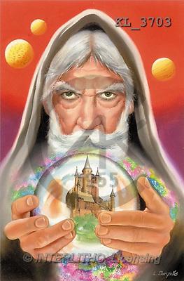 Interlitho, Luis, MODERN, paintings, magician, ball, castle(KL3703,#N#)