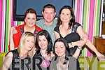 Norma Huggard, Rossaneen, Currow, pictured with Annemarie O'Connor, Mary Huggard, Kate Foran, Mike and Marie Brosnan as she celebrated her 30th birthday in The Lane Bar, Killarney on Saturday night.....................