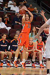 March 6, 2014; Las Vegas, NV, USA; Pepperdine Waves guard Allie Green (22) shoots against the Santa Clara Broncos during the second half of the WCC Basketball Championships at Orleans Arena. The Waves defeated the Broncos 80-74.