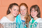 Enjoying the family fun day at the community centre at the Caili?n A?lainn festival in Lixnaw on Saturday were Bri?d O'Sullivan, Olivia Quilter, and Megan Sheehy..   Copyright Kerry's Eye 2008