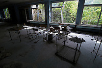 In School #2 in Pripyat.<br />