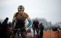 Bart Wellens (BEL/Telenet-Fidea) can hardly see where he's going with all that mud in his eyes<br /> <br /> Azencross Loenhout 2014