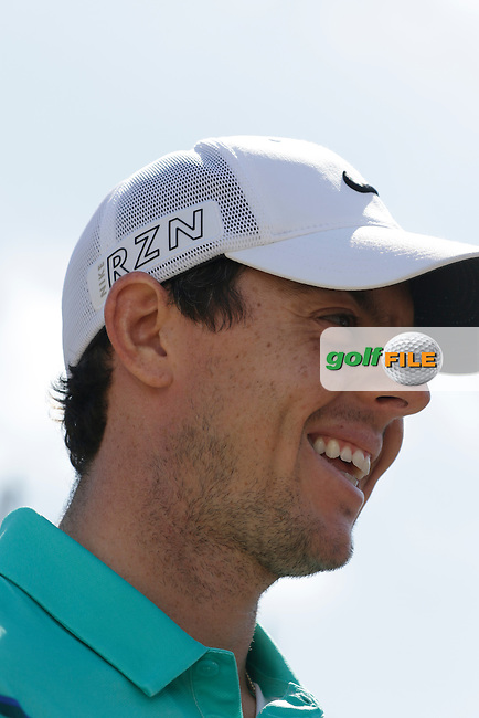 Rory MCILROY (NIR) speaks to the media during Tuesday's Practice Day of the 2015 U.S. Open 115th National Championship held at Chambers Bay, Seattle, Washington, USA. 6/16/2015.<br /> Picture &copy; Golffile/Eoin Clarke