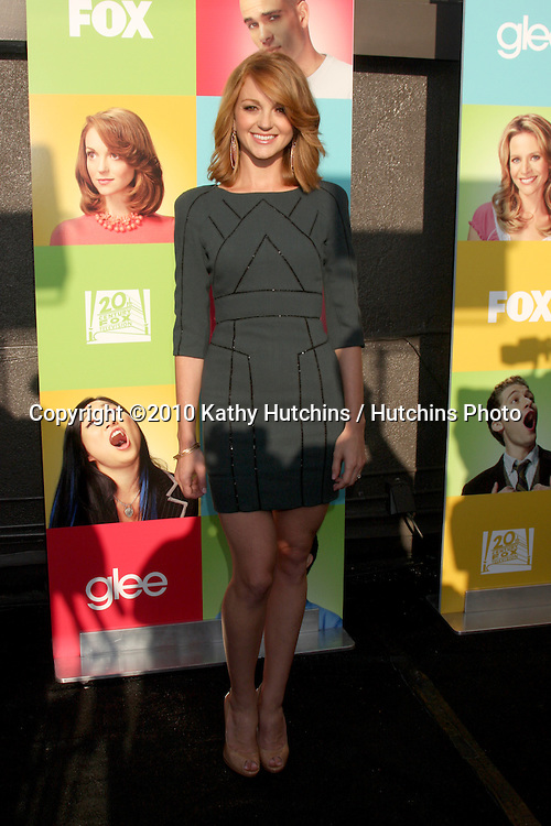 """LOS ANGELES - JUL 27:  Jayma Mays arrives at Fox's """"Glee"""" Academy: An Evening of Music With the Cast of Glee at The Music Box & Henry Fonda Theater on July27, 2010 in Los Angeles, CA ..."""
