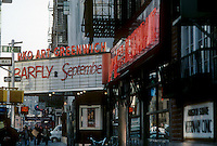 The RKO Art Greenwich theater on Greenwich Avenue and West 12th Street in Greenwich Village in New York is seen on December 1987. The property occupied by the theater is now an Equinox Sports Club. (© Richard B. Levine)