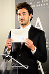Spanish actor Miki Esparbe during the reading of the selected movie to represent Spain at the Oscars in Madrid. September 07, 2016. (ALTERPHOTOS/Borja B.Hojas)