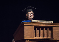 History Professor Sharla Fett, recipient of the Graham L. Sterling Memorial Award.<br /> The class of 2021 are welcomed to Occidental College by trustees, faculty and staff in Thorne Hall on Aug. 29, 2017 during Oxy's 130th Convocation ceremony, a tradition that formally marks the start of the academic year and welcomes the new class.<br /> (Photo by Marc Campos, Occidental College Photographer)