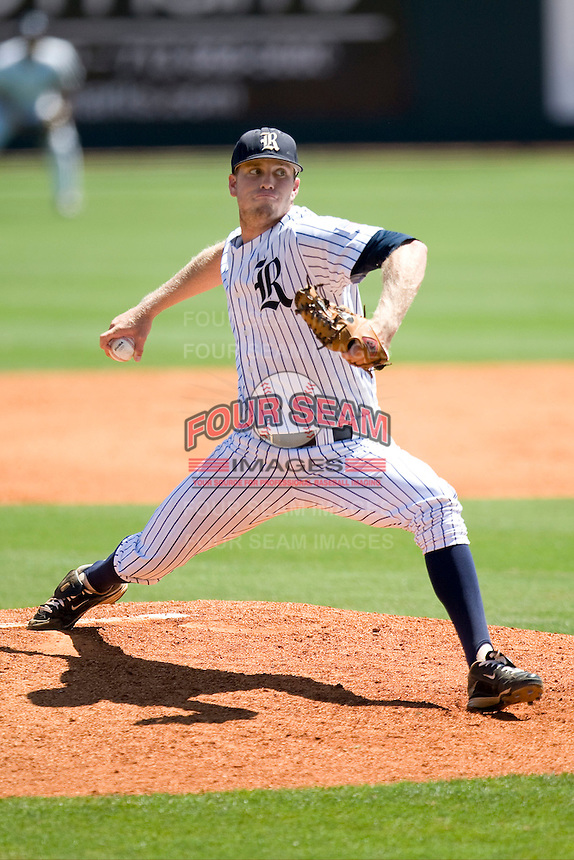 Rice Owls pitcher Matthew Reckling #29 delivers against the Memphis TIgers in NCAA Conference USA baseball on May 14, 2011 at Reckling Park in Houston, Texas. (Photo by Andrew Woolley / Four Seam Images)