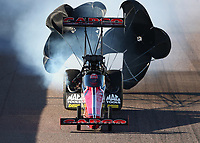 Feb 22, 2020; Chandler, AZ, USA; NHRA top fuel driver Billy Torrence during qualifying for the Arizona Nationals at Wild Horse Pass Motorsports Park. Mandatory Credit: Mark J. Rebilas-USA TODAY Sports