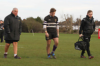 Dejected Romford Romford & Gidea Park RFC vs Woodford RFC, London 2 North East Division Rugby Union at Crowlands on 9th March 2019