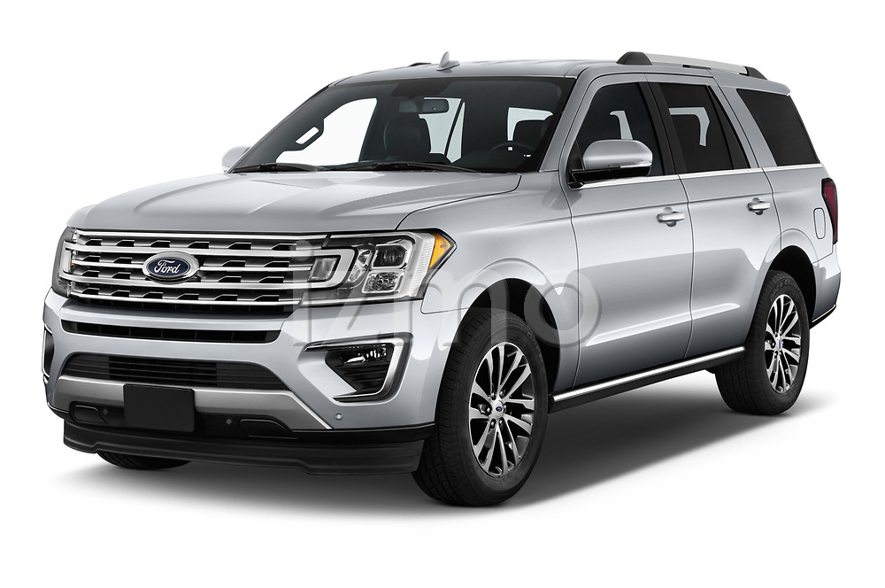 2018 Ford Expedition Limited 5 Door SUV angular front stock photos of front three quarter view