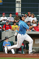 Myrtle Beach Pelicans catcher Zach Zaneski (#17) at bat during a game vs. the Potomac Nationals at BB&T Coastal Field in Myrtle Beach, SC on April 25, 2011.   Photo By Robert Gurganus/Four Seam Images