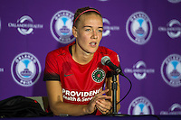 Orlando, FL - Sunday June 26, 2016: Dagny Brynjarsdottir  after a regular season National Women's Soccer League (NWSL) match between the Orlando Pride and the Portland Thorns FC at Camping World Stadium.