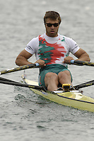 Munich, GERMANY, 2006, FISA, Rowing, World Cup, BUL M1X Ivo Yanakiev,  held on the Olympic Regatta Course, Munich, Thurs. 25.05.2006. © Peter Spurrier/Intersport-images.com,  / Mobile +44 [0] 7973 819 551 / email images@intersport-images.com.[Mandatory Credit, Peter Spurier/ Intersport Images] Rowing Course, Olympic Regatta Rowing Course, Munich, GERMANY