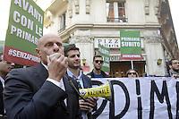 Roma, 26 Novembre 2012.Via dell'Umiltà.Militanti del PDL manifestano davanti la sede del PDL per chiedere le primarie nel centro destra..Fabio Rampelli