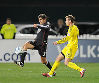 DC United defender Rodrigo Brasesco (3)  DC United defeated The Columbus Crew 3-1  at the home season opener, at RFK Stadium, Saturday March 19, 2011.