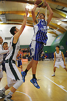 Action from the 2014 National Secondary Schools Basketball Championship AA boys' semifinal between Westlake Boys' High School and St Patrick's College Town at Arena Manawatu, Palmerston North, New Zealand on Friday, 3 October 2014. Photo: Dave Lintott / lintottphoto.co.nz
