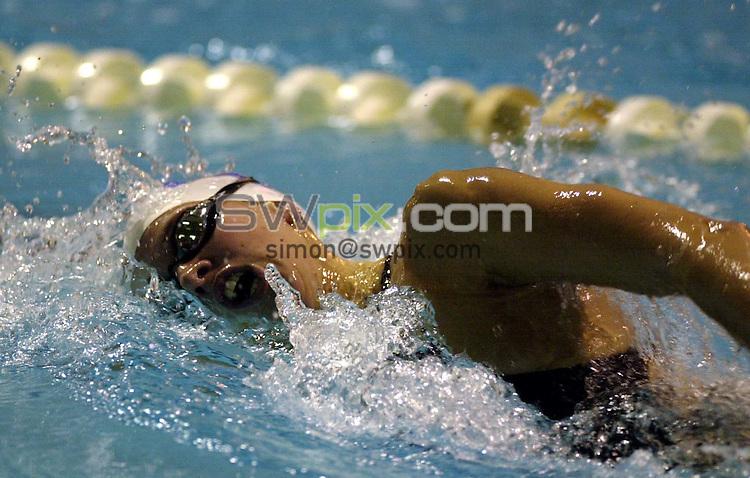 Pix: Matthew Lewis/SWpix.com. Swimming. The 2002 Bath Grand Prix & Age Group Meet, University of Bath. 08/12/2002...COPYWRIGHT PICTURE>>SIMON WILKINSON>>01943 436649>>..Portsmouth Northsea's Katy Sexton competes in the Womens 400m Freestyle heat.