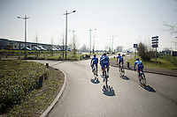 Team Wanty - Groupe Gobert starting their recon<br /> <br /> 2015 Paris-Roubaix recon