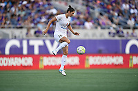 Orlando, FL - Saturday Sept. 24, 2016: Yael Averbuch during a regular season National Women's Soccer League (NWSL) match between the Orlando Pride and FC Kansas City at Camping World Stadium.