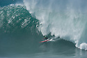 Kala Alexander (HAW) during the Quiksilver Eddie Aikau at Waimea Bay on the Northshore of Oahu in Hawaii