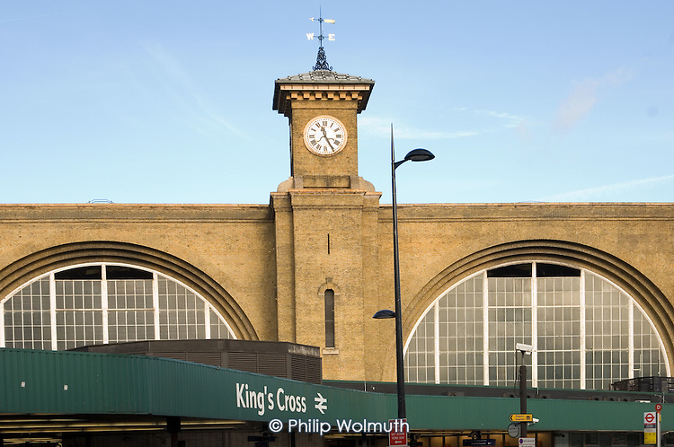 King's Cross railway station, central London.