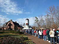 George W. Bush Book Signing<br /> Crowd At Billy Graham Library<br /> Charlotte North Carolina By<br /> Jonathan Green