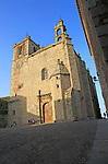 Church and plaza of San Mateo, medieval old town, Caceres, Extremadura, Spain