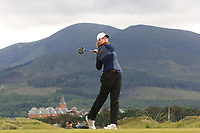 Euphemie Rhodes (Burnham & Berrow) on the 2nd tee during Round 1 of the Women's Amateur Championship at Royal County Down Golf Club in Newcastle Co. Down on Tuesday 11th June 2019.<br /> Picture:  Thos Caffrey / www.golffile.ie<br /> <br /> All photos usage must carry mandatory copyright credit (© Golffile | Thos Caffrey)