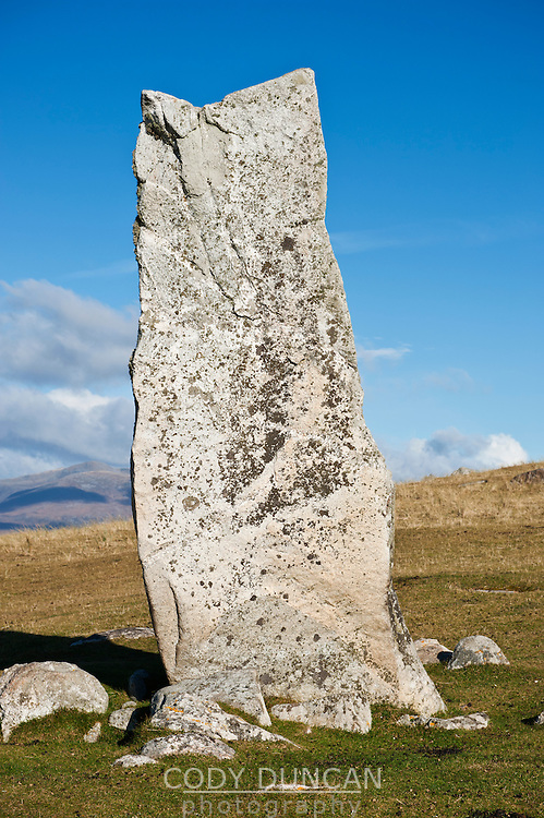 Macleod's Stone standing stone, Isle of Harris, Scotland