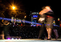 MANIZALES-COLOMBIA. 06-01-2016: Carrera en carritos de balineras en un recorrido por la comuna universitaria Fatima como parte de la versión número 60 de La Feria de Manizales 2016 que se lleva a cabo entre el 2 y el 10 de enero de 2016 en la ciudad de Manizales, Colombia. / Ball bearings race carts on a tour of the university commune Fatima as part of the 60th version of Manizales Fair 2016 takes place between 2 and 10 January 2016 in the city of Manizales, Colombia. Photo: VizzorImage / Kevin Toro / Cont