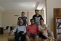 Turkey 2015 <br />In Diyarbakir, Resul Gevik, sitting in the center, English teacher at Mardin Artuklu university, with his family  <br />Turquie 2015 <br />A Diyarbakir, une famille avec au centre , assis, Resul Gevik, professeur d'anglais a l'universiy&eacute; de Mardin