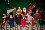 meeting Santa in castleisland on Friday Chloe,Abbie,Ruby,Cadha and Cliona O'Donoghue and Lionel Twomey and his elfs on Friday
