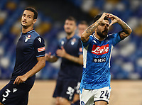 1st August 2020; Stadio San Paolo, Naples, Campania, Italy; Serie A Football, Napoli versus Lazio; Lorenzo Insigne of Napoli celebrates after scoring from the penalty spot in the 54th minute for 2-1
